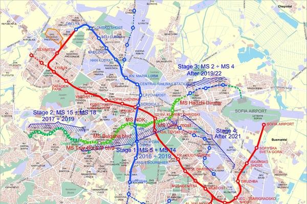 Sofia Subway Map.General Information Metropolitan Sofia